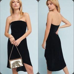 NWT Black Strapless Velvet Petite Dress Sz XXSP